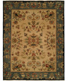 RugStudio presents Famous Maker Carolton 100888 Victorian Indigo Hand-Knotted, Good Quality Area Rug
