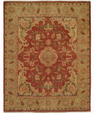 RugStudio presents Famous Maker Carolton 100895 Brownstone Brick Hand-Knotted, Best Quality Area Rug