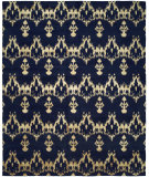 RugStudio presents Famous Maker Grimani 100678 Midnight Blue Woven Area Rug