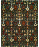 RugStudio presents Famous Maker Ikat 100427 Slate Green Hand-Tufted, Good Quality Area Rug