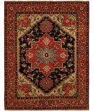 RugStudio presents Famous Maker Heria 100080 Ebony Brick Hand-Knotted, Best Quality Area Rug