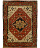 RugStudio presents Famous Maker Heria 100082 Cream Brick Hand-Knotted, Best Quality Area Rug