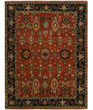 RugStudio presents Famous Maker Heria 100089 Brick Ebony Hand-Knotted, Best Quality Area Rug