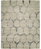 RugStudio presents Famous Maker Insight 100942 Gray Beige Hand-Knotted, Best Quality Area Rug