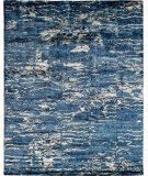 RugStudio presents Famous Maker Insight 100943 Blue Hand-Knotted, Best Quality Area Rug