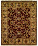 RugStudio presents Kalaty Jaipura Jp-426 Plum Gold Hand-Knotted, Good Quality Area Rug