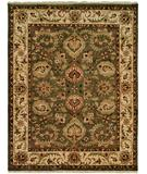 RugStudio presents Kalaty Jaipura Jp-427 Green/Gold Hand-Knotted, Best Quality Area Rug
