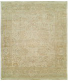 RugStudio presents Famous Maker Kozoa 100125 Ivory Persimmon Hand-Knotted, Best Quality Area Rug