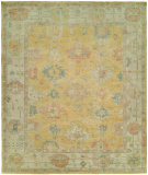 RugStudio presents Famous Maker Kozoa 100126 Gold Linen Hand-Knotted, Best Quality Area Rug