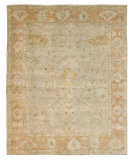 RugStudio presents Famous Maker Kozoa 100127 Slate Salmon Hand-Knotted, Best Quality Area Rug