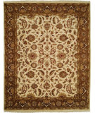 RugStudio presents Kalaty Lateef Lt-809 Ivory Mocha Hand-Knotted, Best Quality Area Rug