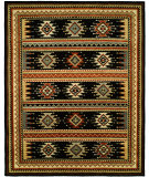 RugStudio presents Famous Maker Mojore 100704 Ebony Hand-Knotted, Best Quality Area Rug