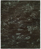 RugStudio presents Famous Maker Oracle 100765 Charcoal Blue Hand-Knotted, Best Quality Area Rug