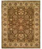 RugStudio presents Famous Maker Oushak 100408 Sienna Ivory Hand-Knotted, Good Quality Area Rug