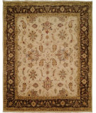 RugStudio presents Famous Maker Oushak 100418 Ivory Brown Hand-Knotted, Good Quality Area Rug
