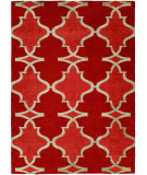 RugStudio presents Famous Maker Portico 100340 Red Hot Hand-Knotted, Best Quality Area Rug