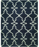 RugStudio presents Famous Maker Portico 100342 Provincial Blue Hand-Knotted, Best Quality Area Rug