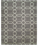 RugStudio presents Famous Maker Portico 100350 True Grey Hand-Knotted, Best Quality Area Rug