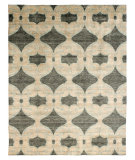 RugStudio presents Famous Maker Portico 100355 Herb Green Hand-Knotted, Best Quality Area Rug