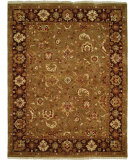 RugStudio presents Famous Maker Royal 100918 Camel Eggplant Hand-Knotted, Best Quality Area Rug