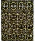RugStudio presents Famous Maker Royalty 100740 Midnight Primrose Hand-Knotted, Best Quality Area Rug