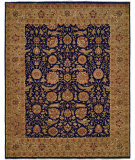 RugStudio presents Famous Maker Sharone 100473 Navy Carmel Hand-Knotted, Best Quality Area Rug