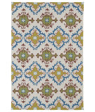 RugStudio presents Kaleen Home And Porch 2030-01 Ivory Machine Woven, Good Quality Area Rug