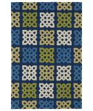 RugStudio presents Kaleen Home And Porch 2032-17 Blue Machine Woven, Good Quality Area Rug