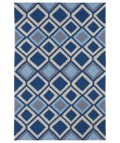 RugStudio presents Kaleen Home And Porch 2033-17 Blue Machine Woven, Good Quality Area Rug