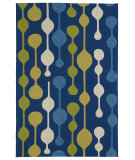 RugStudio presents Kaleen Home And Porch 2035-17 Blue Machine Woven, Good Quality Area Rug