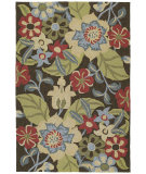RugStudio presents Kaleen Habitat Salty Leaves Mocha 2102 Hand-Hooked Area Rug