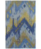 RugStudio presents Kaleen Casual Castaway Blue 5054 Hand-Tufted, Good Quality Area Rug