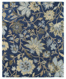 RugStudio presents Kaleen Brooklyn 5304-17 Blue Hand-Tufted, Good Quality Area Rug