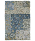RugStudio presents Kaleen Calais Autumn Leaves Blue 7504-17 Area Rug