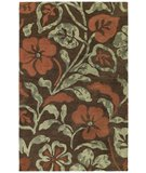 RugStudio presents Kaleen Calais Lily in the Valley Brown 7512-49 Area Rug