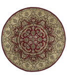 RugStudio presents Kaleen Tara Rounds Leonardo Burgundy 7706-04 Hand-Tufted, Good Quality Area Rug