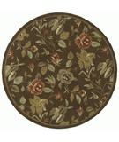 RugStudio presents Kaleen Tara Rounds Ridolfo Chocolate 7707-40 Hand-Tufted, Good Quality Area Rug