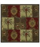RugStudio presents Kaleen Tara Squares Palmetto Nutmeg 7804-54 Hand-Tufted, Good Quality Area Rug