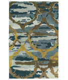 RugStudio presents Kaleen Brushstrokes Brs02-17 Blue Hand-Tufted, Good Quality Area Rug