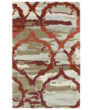 RugStudio presents Kaleen Brushstrokes Brs02-25 Red Hand-Tufted, Good Quality Area Rug