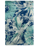 RugStudio presents Kaleen Brushstrokes Brs06-17 Blue Hand-Tufted, Good Quality Area Rug