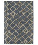 RugStudio presents Kaleen Casablanca Cas04-17 Blue Hand-Tufted, Good Quality Area Rug