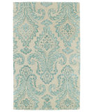 RugStudio presents Kaleen Divine Div06-78 Turquoise Hand-Tufted, Good Quality Area Rug