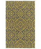 RugStudio presents Kaleen Evolution Evl04-28 Yellow Hand-Tufted, Good Quality Area Rug