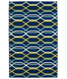 RugStudio presents Kaleen Glam Gla01-22 Navy Flat-Woven Area Rug