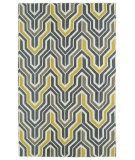 RugStudio presents Kaleen Glam Gla03-28 Yellow Flat-Woven Area Rug