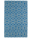 RugStudio presents Kaleen Glam Gla06-91 Teal Flat-Woven Area Rug