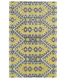 RugStudio presents Kaleen Global Inspirations Glb01-28 Yellow Hand-Tufted, Good Quality Area Rug