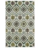 RugStudio presents Kaleen Global Inspirations Glb04-50 Green Hand-Tufted, Good Quality Area Rug