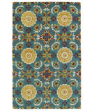 RugStudio presents Kaleen Global Inspirations Glb06-78 Turquoise Hand-Tufted, Good Quality Area Rug